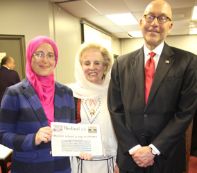 Ambassador Jacobson (right) at Ottawa Main Mosque