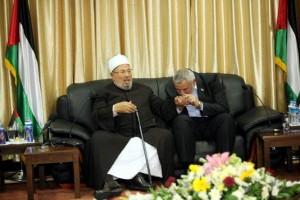 Ismail Haniyeh with Qaradawi