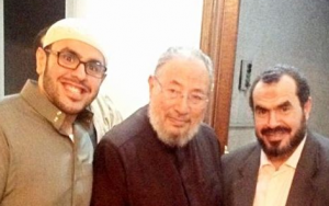 Mohamed Soltan & Father with Youssef Qaradawi
