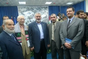 Palestinian Return Center Director with Hamas Prime Minister